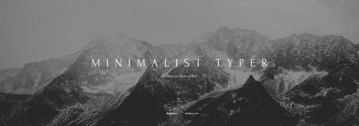 Hvilken type minimalist erdu?